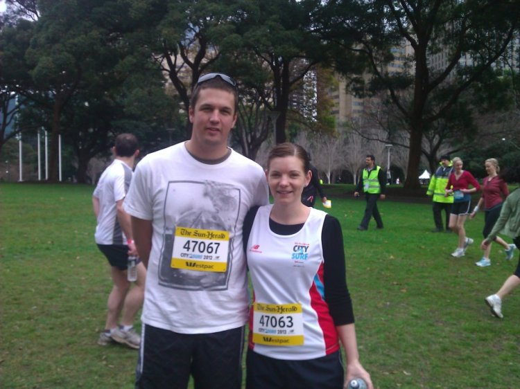2012 City2surf, Cameron & I