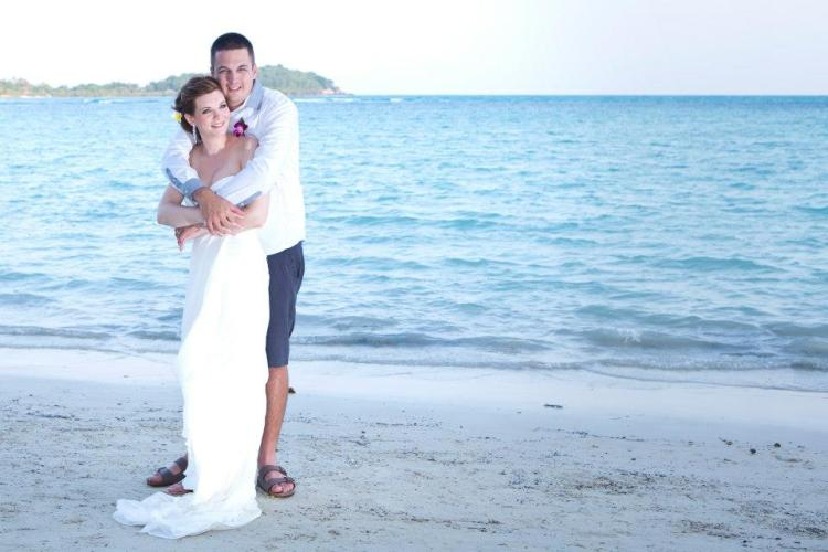Our wedding in Thailand January 2013, just before I became ill
