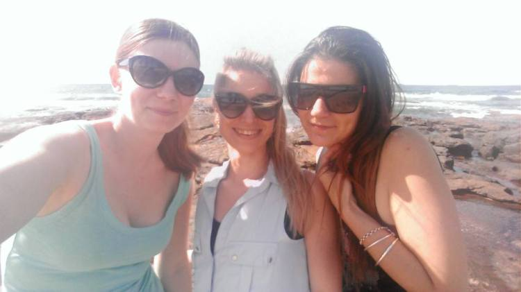 Hanging out down at the beach with Jemma & Courtney.