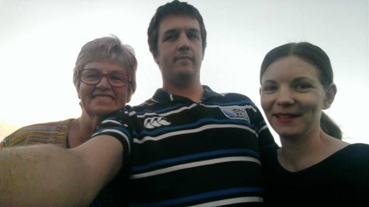 Pauline, Cameron & I down at the beach.