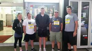 Laura, Mike, Chris, Dad and Cameron. All ready to race in their 3rd City2Surf!