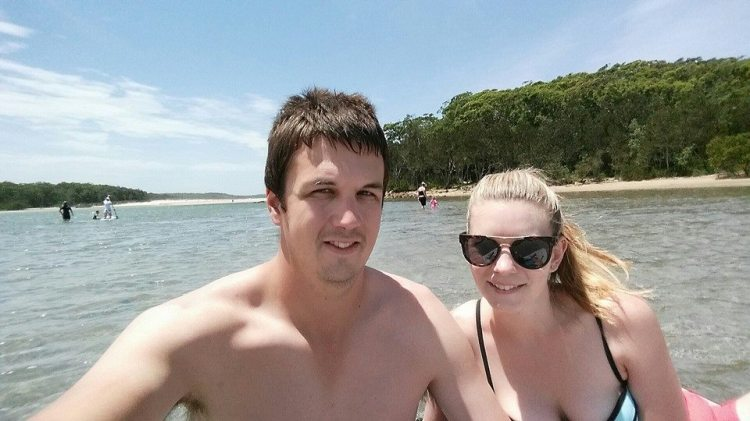 Cameron & I , Paddle boarding selfie. Narrawallee Inlet