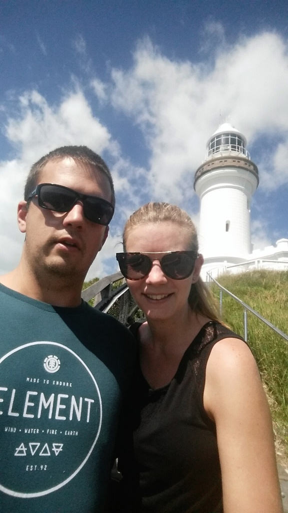 Selfie at Cape Byron Lighthouse.