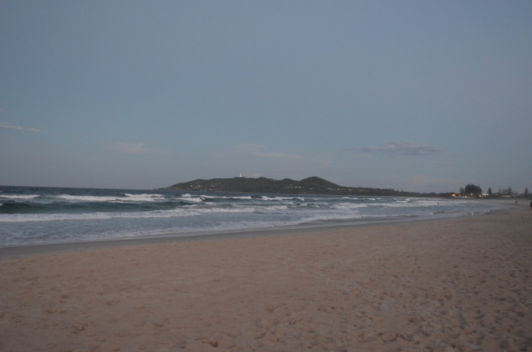 Belongil Beach, looking towards Byron bay.