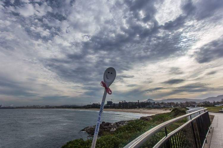 Looking over City Beach, Wollongong